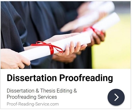 Dissertation and Thesis Editing and Proofreading Services