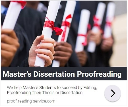 Master's Dissertation Editing and Proofreading Services