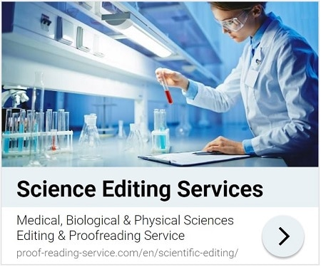 Scientific English Editing and Proofreading Services